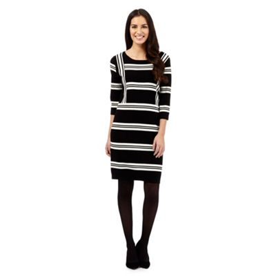 J by Jasper Conran Black striped knitted dress