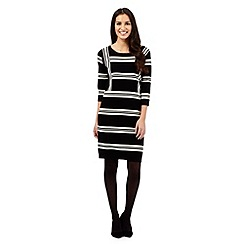J by Jasper Conran - Black striped knitted dress