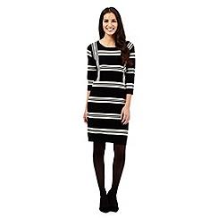 J by Jasper Conran - Black striped knitted dress