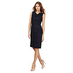 J by Jasper Conran - Navy lace cowl neck dress