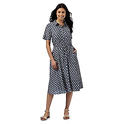 J by Jasper Conran - Blue spotted midi dress