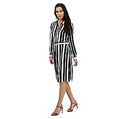 J by Jasper Conran - Navy striped shirt dress