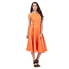 J by Jasper Conran - Orange square textured flare dress