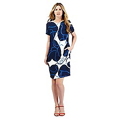 J by Jasper Conran - Blue lily pad print shift dress