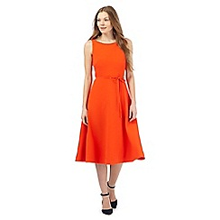 J by Jasper Conran - Orange fit and flare pique dress