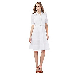 J by Jasper Conran - White Broderie Anglaise shirt dress