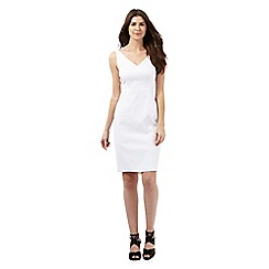 J by Jasper Conran - White textured dress