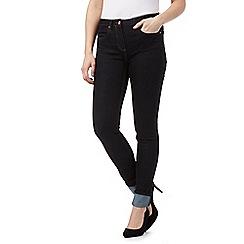 J by Jasper Conran - Dark blue shape enhancing turn-up skinny jeans