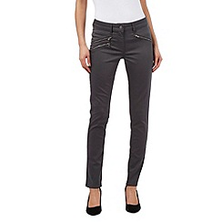 J by Jasper Conran - Grey zip detail skinny jeans