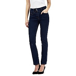 J by Jasper Conran petite - Blue shape enhancing high-waisted straight leg jeans