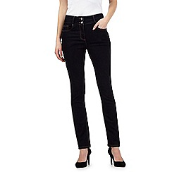 J by Jasper Conran petite - Dark blue shape enhancing high-waisted skinny jeans