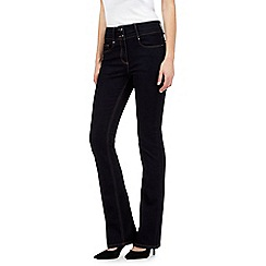 J by Jasper Conran petite - Dark blue shape enhancing high-waisted bootcut jeans