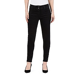J by Jasper Conran petite - Black shape enhancing high-waisted skinny jeans