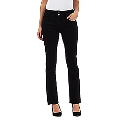 J by Jasper Conran - Black petite high waisted bootcut jeans