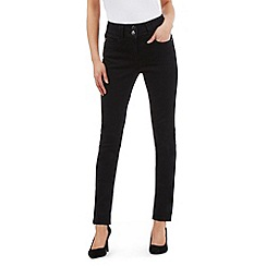 J by Jasper Conran - Black shape enhancing high-waisted skinny jeans