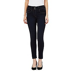 J by Jasper Conran petite - Blue shape enhancing high-waisted skinny jeans