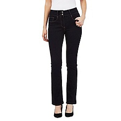 J by Jasper Conran petite - Blue shape enhancing high-waisted bootcut jeans