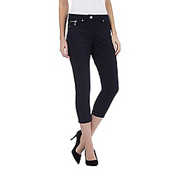J by Jasper Conran - Navy zip pocket cropped jeans