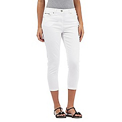 J by Jasper Conran - White zip pocket cropped jeans