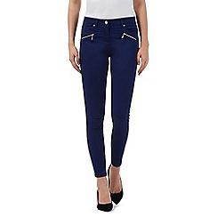 J by Jasper Conran - Dark blue slim leg mid-rise ankle grazer jeans