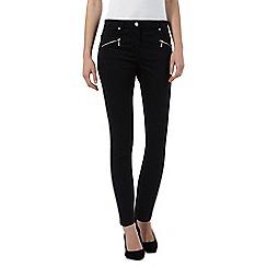 J by Jasper Conran - Black slim leg mid-rise ankle grazer jeans