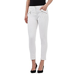 J by Jasper Conran - White ankle grazer skinny jeans