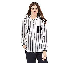 J by Jasper Conran - White striped print shirt