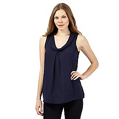 J by Jasper Conran - Navy roll neck shell top