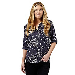 J by Jasper Conran - Navy dove print shirt