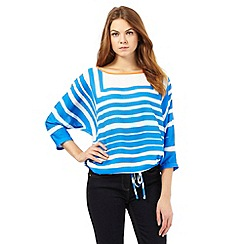 J by Jasper Conran - Blue striped print batwing top