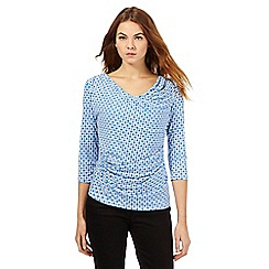 J by Jasper Conran - Blue square print top