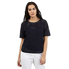 J by Jasper Conran - Navy broiderie anglaise top
