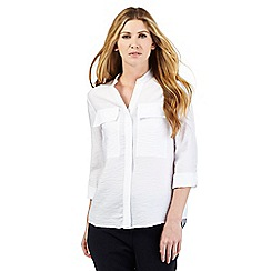 J by Jasper Conran - White two pocket shirt