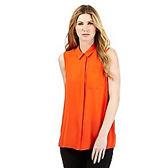 J by Jasper Conran - Bright orange sleeveless shirt