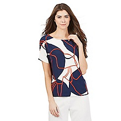 J by Jasper Conran - White lily pad print top