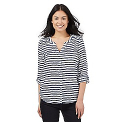 J by Jasper Conran - White striped sushi voile blouse