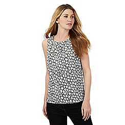 J by Jasper Conran - White sleeveless circle print top