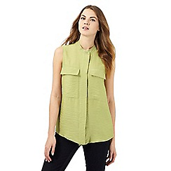 J by Jasper Conran - Light green textured sleeveless top