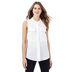J by Jasper Conran - White textured sleeveless top