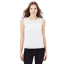J by Jasper Conran - White cut-out shell top