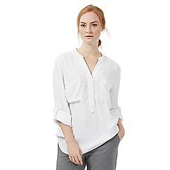 J by Jasper Conran - White oversized long sleeved shirt