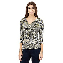 J by Jasper Conran - Yellow blurred spotted cowl top