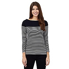 J by Jasper Conran - Navy striped top