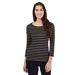 J by Jasper Conran - Navy thin striped jersey