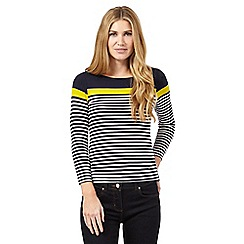 J by Jasper Conran - Navy block striped top
