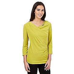 J by Jasper Conran - Lime cowl neck top