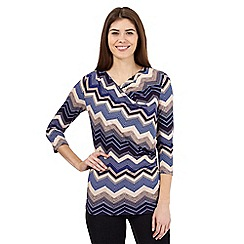 J by Jasper Conran - Blue diamond print jersey top