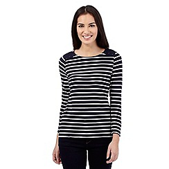 J by Jasper Conran - Navy striped button top
