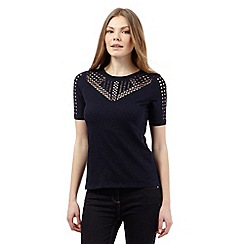 J by Jasper Conran - Navy cut-out top