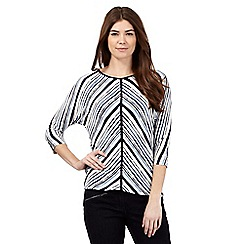 J by Jasper Conran - White chevron stripe top